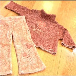 TOFF TOGS Rose Color Warm Winter Pant & Top Set 3T